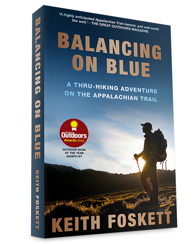 Balancing on Blue Book Cover